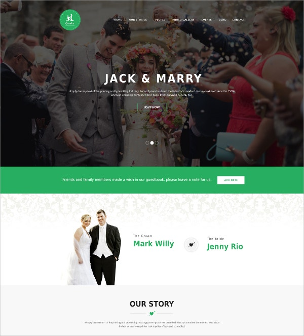 General Wedding Blog PSD Theme $12