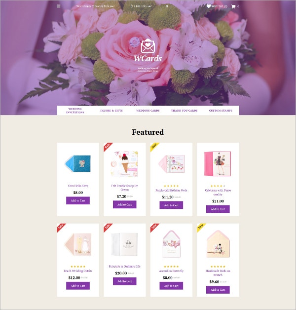 Wedding Bolg OpenCart Template $45