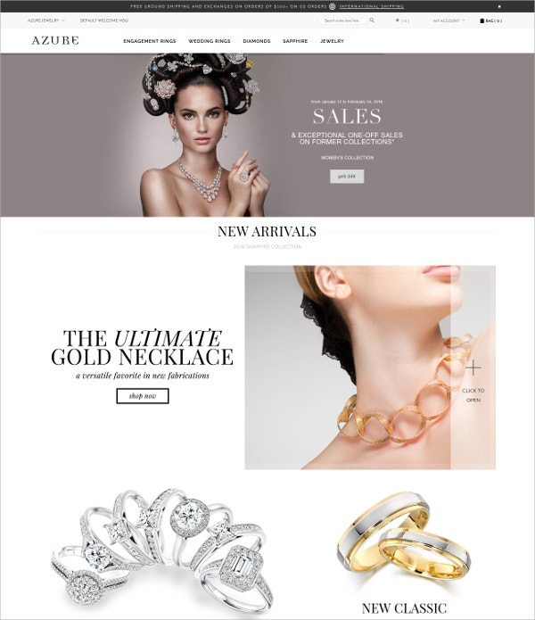 Fashion Multipurpose Jewellery Blog Magento Theme $43