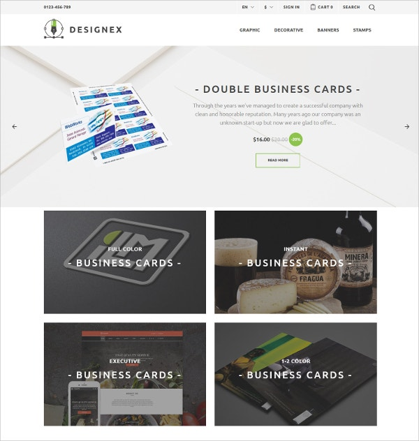 Corporate Design PrestaShop Blog Theme $139