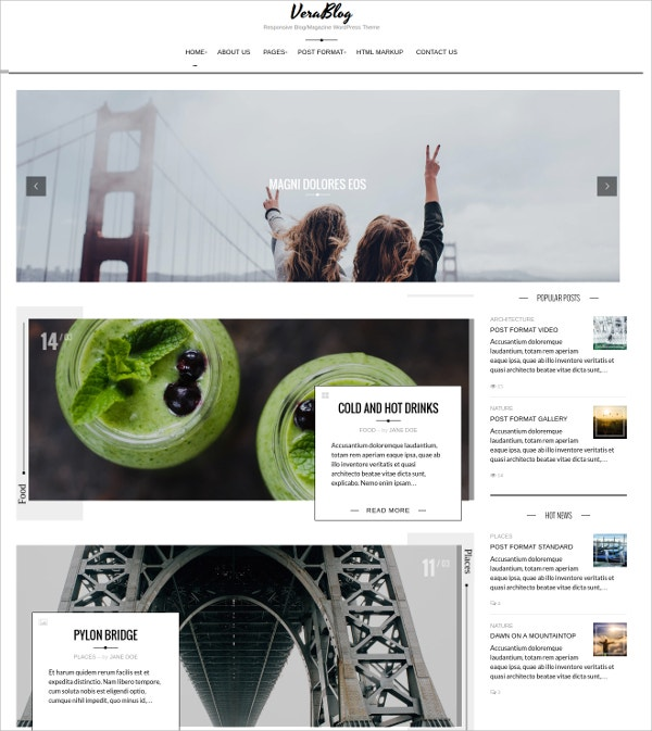 Responsive Blog Magazine WordPress Theme $49