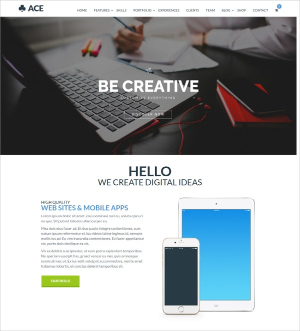 Responsive, Multipurpose Blog WP Theme $59