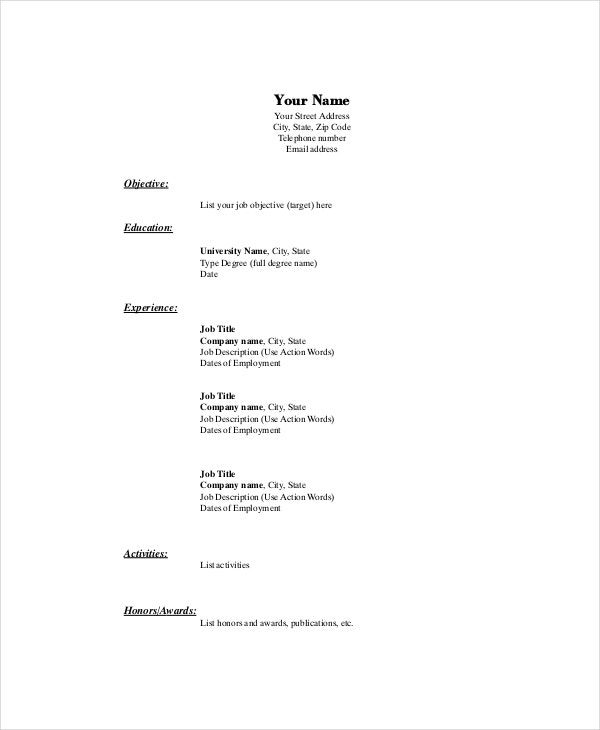 Marketing Resume Template   Free Word Pdf Documents Download