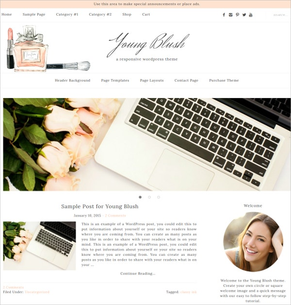 eCommerce Blog WordPress Theme $20