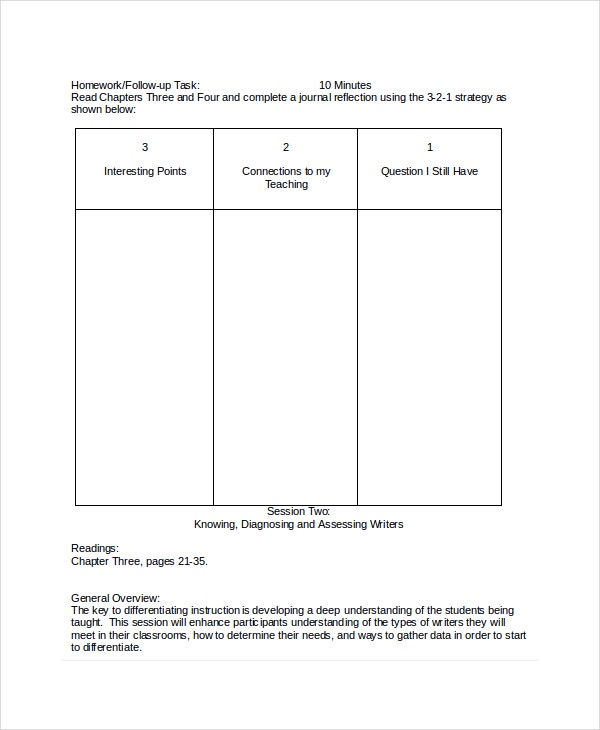 Differentiated Instruction Activity Template