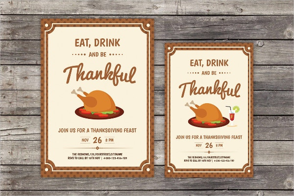 Thanksgiving Day Home Party Flyer