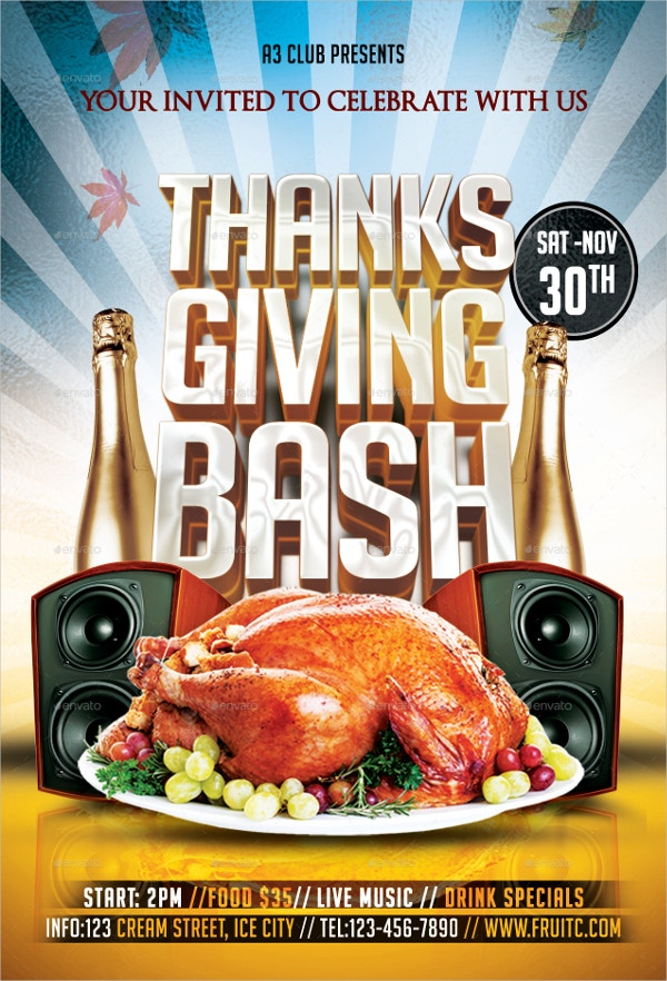 Thanksgiving Bash Flyer