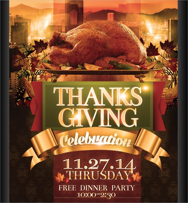 18 Thanksgiving Flyers Free Psd Ai Eps Format Download Free