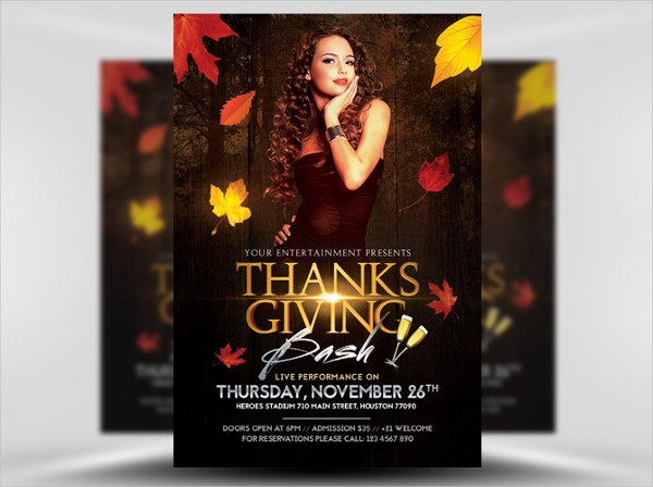 Thanksgiving Club Flyer