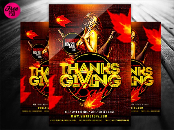 Free Thanksgiving Flyer Psd