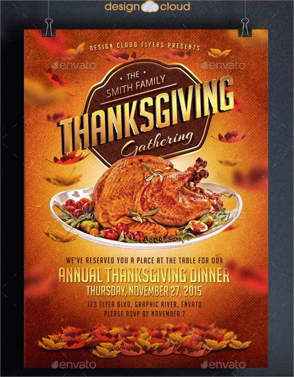 Thanksgiving Flyers  Free Psd Ai Eps Format Download  Free