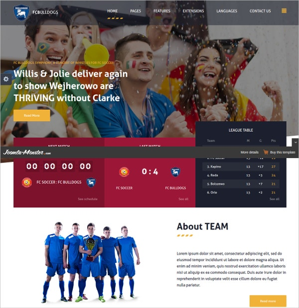 responsive sports news club joomla theme