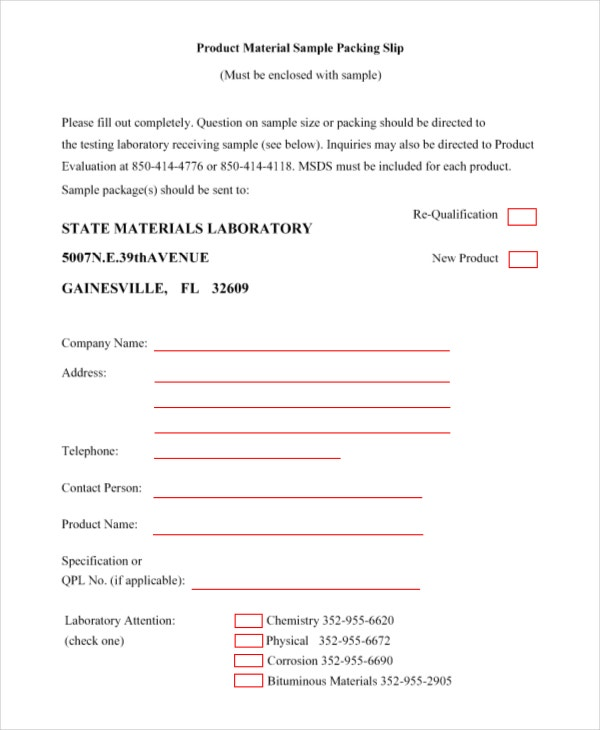 Packing Slip Template  Packing Slip Format