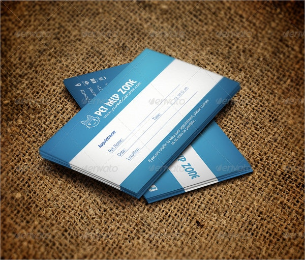 9 appointment card templates free psd ai eps format download pet appointment business card fbccfo Choice Image
