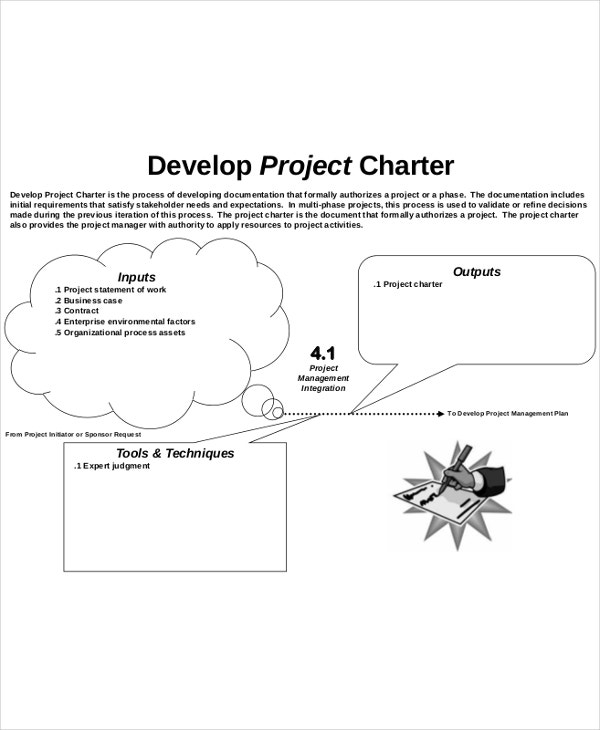 develop project charter template