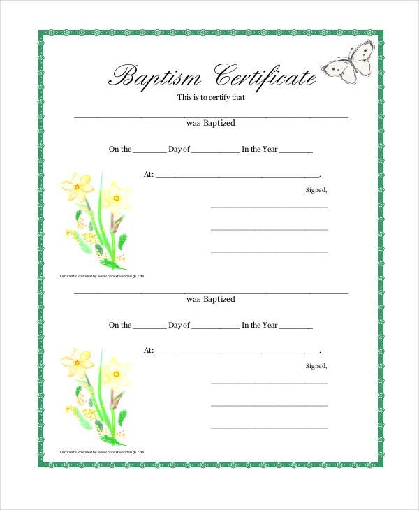 20 sample baptism certificate templates free sample example baptism certificate template in free download yadclub Choice Image