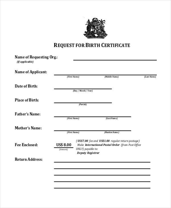 birth baptism certificate template sample