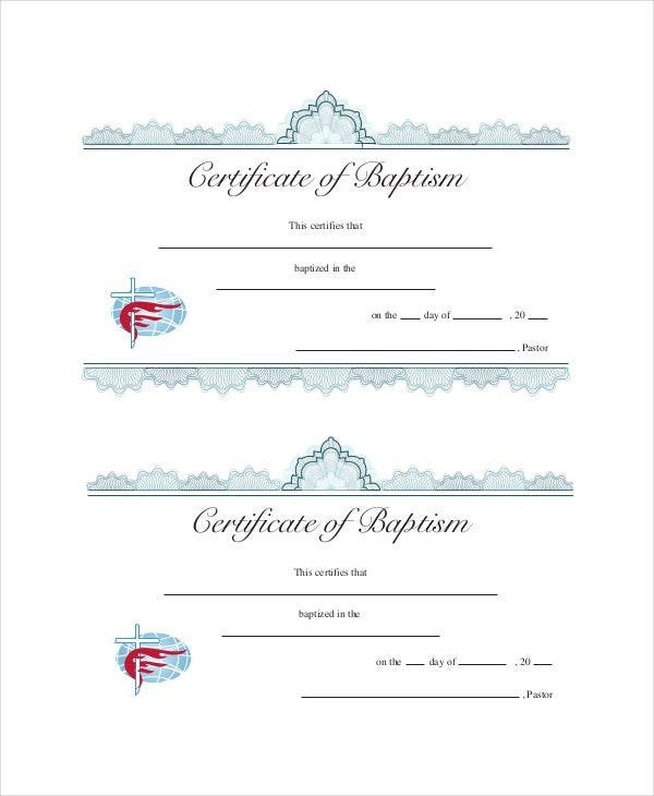 27  sample baptism certificate templates