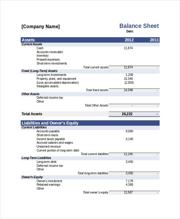 bank balance statement template