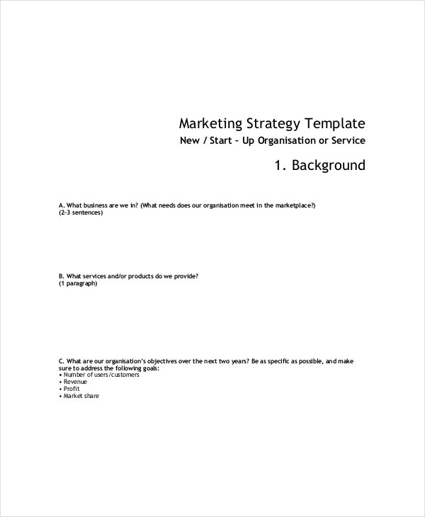 market strategies template