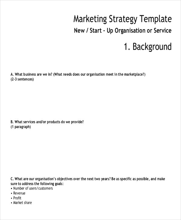 marketing strategy template2