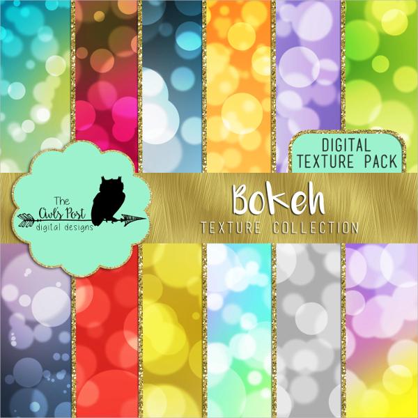 Multicolored Bokeh Texture Paper