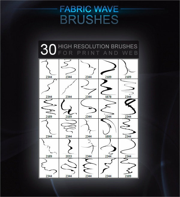 Fabric Wave Brushes