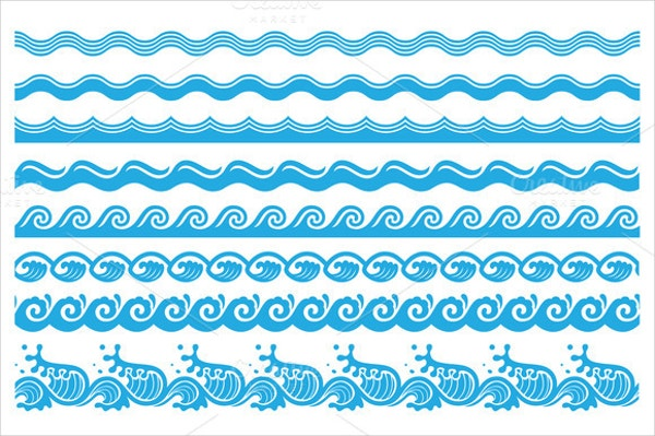 Sea Wave Brushes