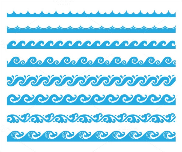 Seamless Horizontal Wave Brushes