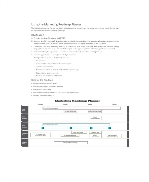 marketing roadmap planner
