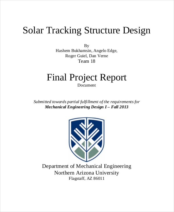 Project Solar Tracking Report