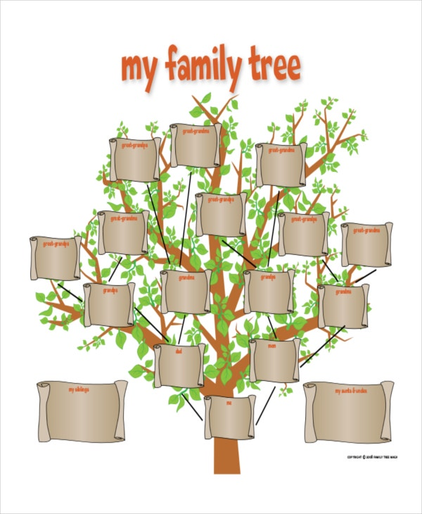 Family tree template 8 free word pdf document for Family tree templates with siblings