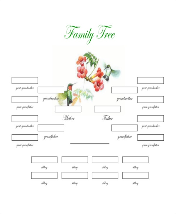 free editable family tree template word - family tree template 8 free word pdf document