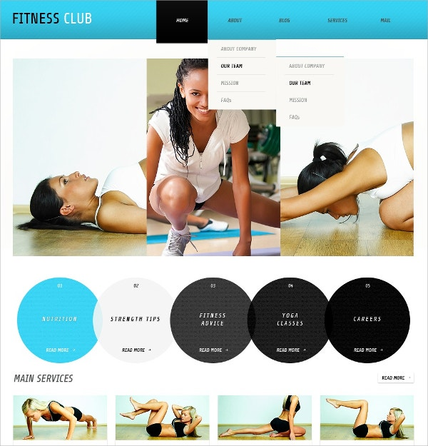 Fitness Advice WordPress Theme $67