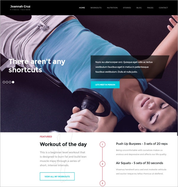 Fitness & Exercise WordPress Theme $49