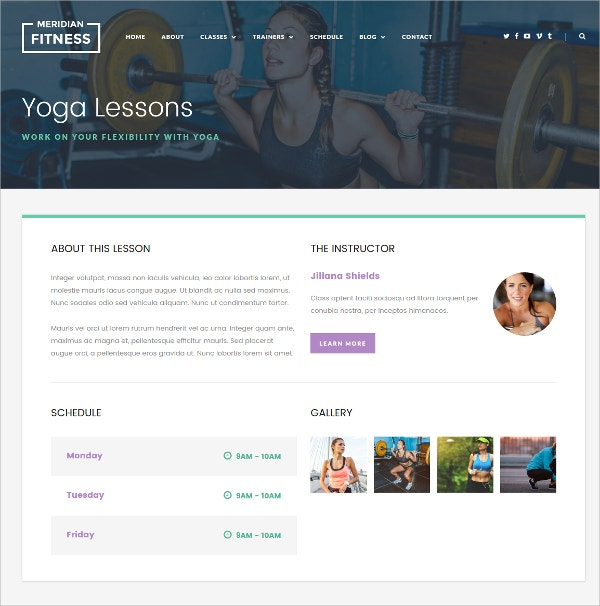 Feminine Fitness, Gym WordPress Theme $49