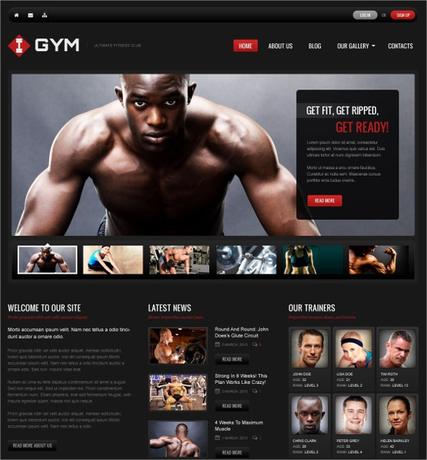Fitness & Gym WordPress Theme $75