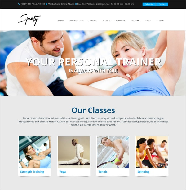 Personal Trainer Sport WordPress Gym Theme $69