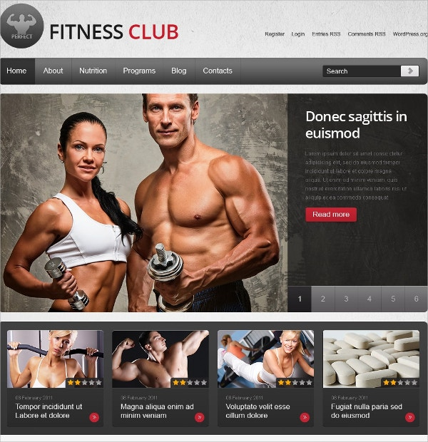 Fitness & Health Care WordPress Theme $67