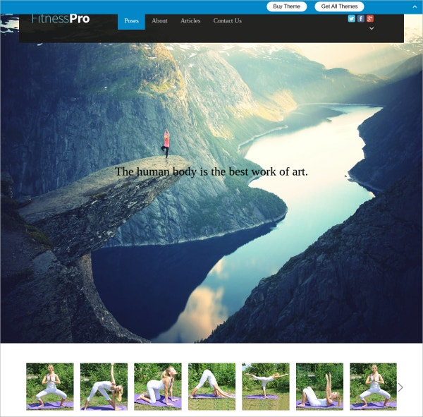 Awesome Fitness WordPress Theme For Sports Centers