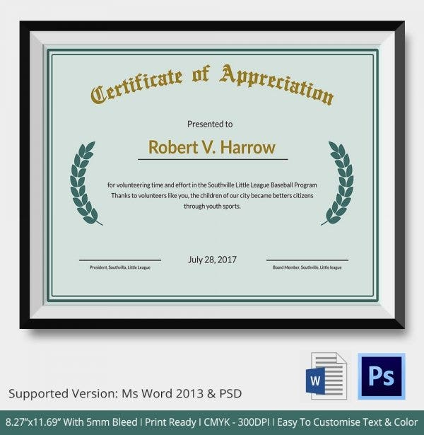 Army certificate of appreciation template yelopaper Choice Image