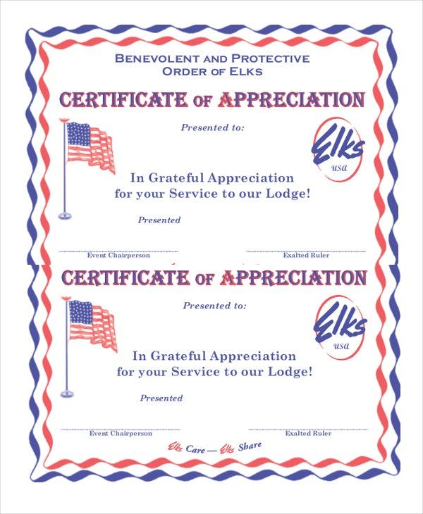 27 certificate of appreciation templates free sample example example of certificate of appreciation yadclub Images