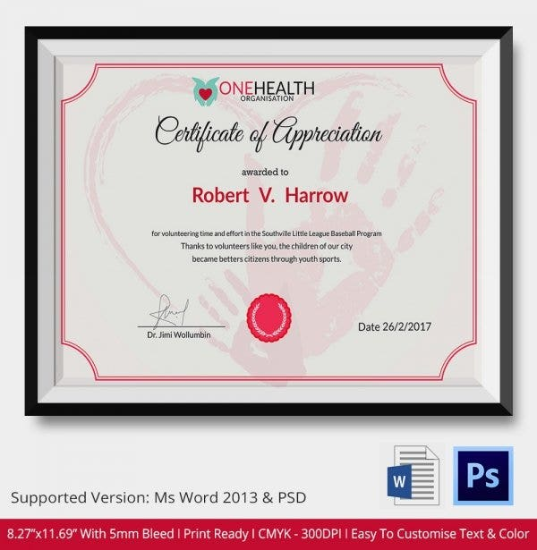 Samples certificate samples resource university certificate 24 certificate of appreciation templates free sample example yadclub Image collections