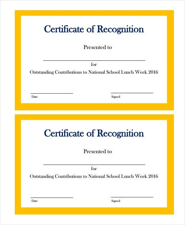 Marvelous Example Of Border Certificate Of Recognition In Certificate Of Recognition Samples