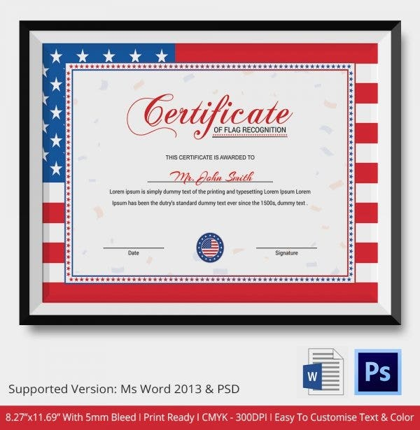 flag-certificate-of-recognition
