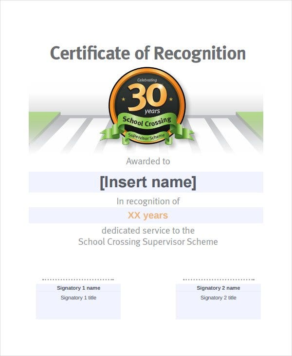 13+ Certificate Of Recognition Templates - Free Sample, Example