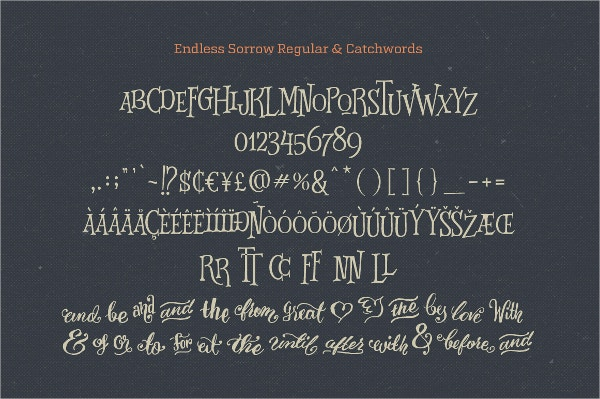 endless sorrow horror font