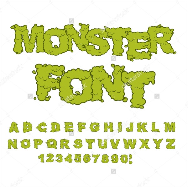 horror monster font