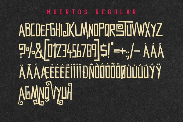 muertos typeface horror font