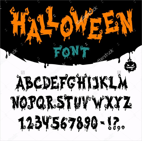 halloween vector horror font